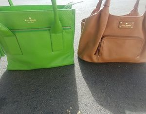 Lot of 2 Kate Spade NY Leather Handbags Boho